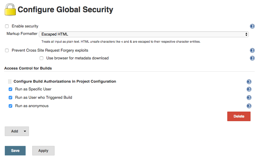 global config authorize project config