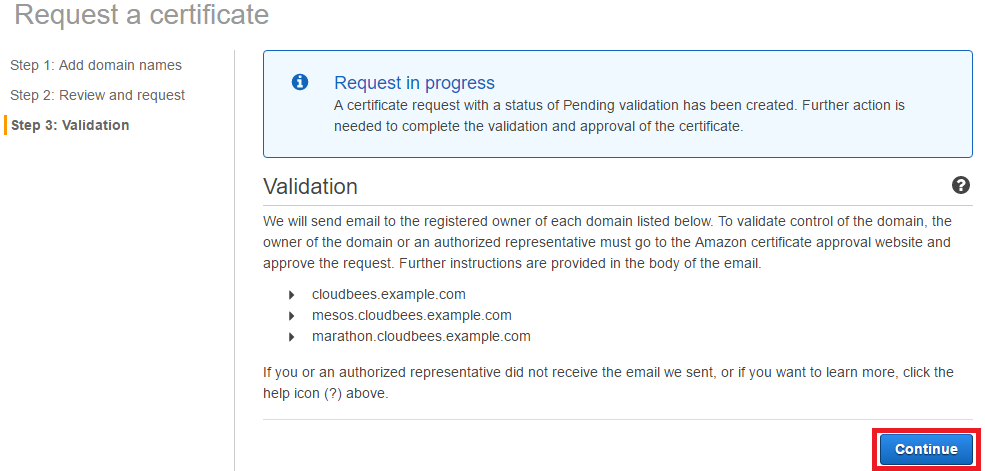 ssl validation pending